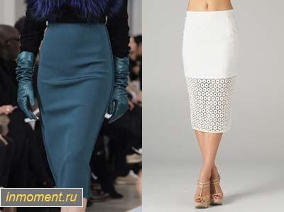 Строгая юбка до колена